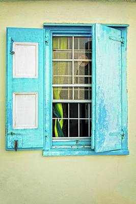 Photograph - Blue Shuttered Window by James Hammond