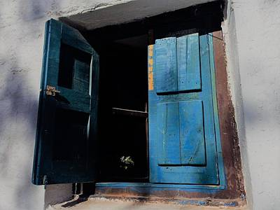 Photograph - Blue Shutters by Cheryl Hoyle