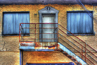Photograph - Blue Shutters by Dawn Currie