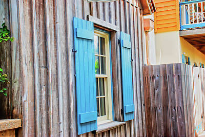 Photograph - Blue Shutters by Gina O'Brien