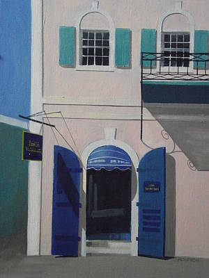 Blue Shutters In Charlotte Amalie Original by Robert Rohrich