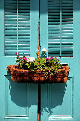 Photograph - Blue Shutters by Nicholas Blackwell
