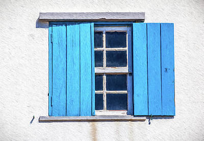 Painting - Blue Shutters Of Peniche by David Letts