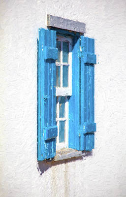Painting - Blue Shutters Of Portugal by David Letts