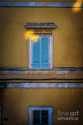 Photograph - Blue Shutters Of Todi by Craig J Satterlee