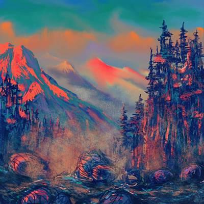 Painting - Blue Silence by Vit Nasonov