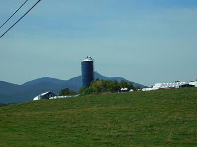 Photograph - Blue Silo In Vermont by Catherine Gagne
