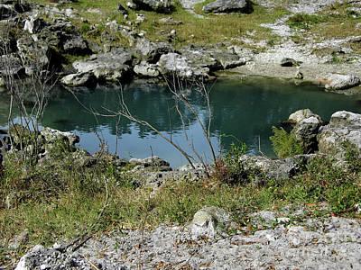 Mystifying Photograph - Blue Sink by D Hackett