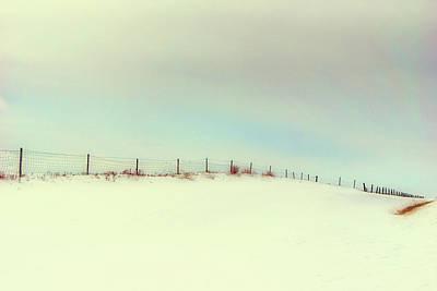 Photograph - Blue Skies And Fencelines by Leanna Lomanski