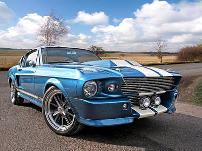 Photograph - Blue Skies Cruising - 1967 Eleanor Mustang by Gill Billington