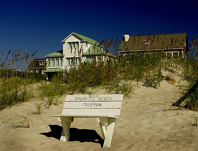 Photograph - Blue Skies On The Beach by James C Thomas