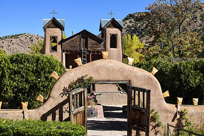 Photograph - Blue Skies Over Chimayo by Tom Cochran