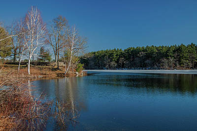 Photograph - Blue Skies Over Houghtons Pond by Brian MacLean