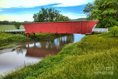 Photograph - Blue Skies Over The Hogback Bridge by Adam Jewell