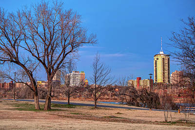 Blue Skies Over The Tulsa Cityscape Skyline Art Print by Gregory Ballos