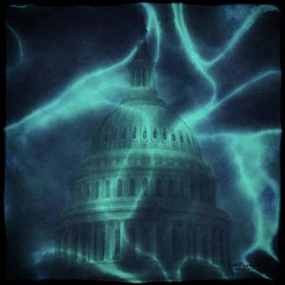 Congressman Digital Art - Blue Skies Over Washington by Diane Parnell