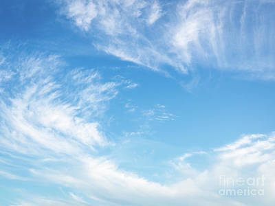Photograph - Blue Sky And Clouds Abstract by Ismo Raisanen