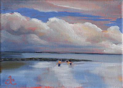 Painting - Blue Sky And Clouds I by Trina Teele