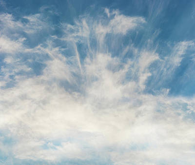 Photograph - Blue Sky And Wispy Cirrhus Clouds by Peter V Quenter