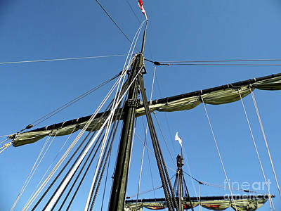 Photograph - Blue Sky Behind The Masts by D Hackett