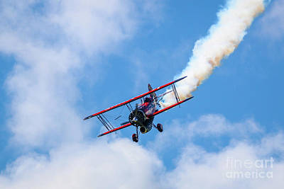 Photograph - Blue Sky Biplane by Tom Claud