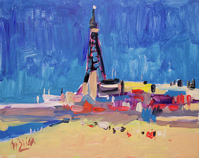 Painting - Blue Sky Blackpool by Nop Briex