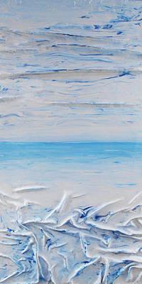 Mixed Media - Blue Sky Blue Sea 1 by Angela Stout