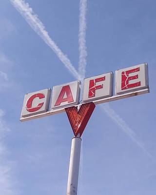 Photograph - Blue Sky Cafe by Rick Frausto