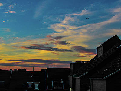 Blue Sky Colorful Sunset Art Print by Cesar Vieira
