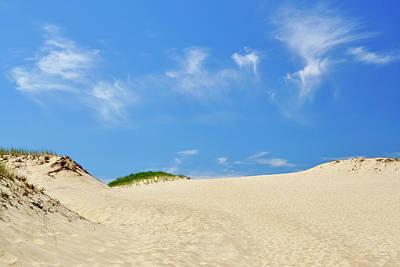 Photograph - Blue Sky Dunes by Luke Moore