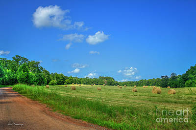 Photograph - Blue Sky Hayfield Double Bridges Road Art by Reid Callaway
