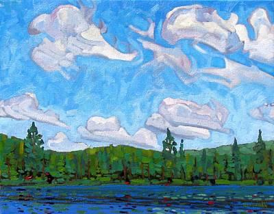 Blue Sky Lake Original by Phil Chadwick