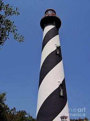 Photograph - Blue - Sky - Lighthouse by D Hackett