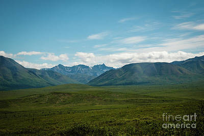 Blue Sky Mountians Art Print