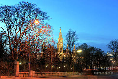 Photograph - Blue Sky Over Vienna's Rathaus by John Rizzuto