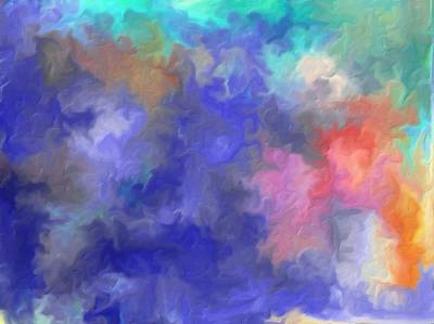 Loose Style Digital Art - Blue Sky Painting by Don  Wright