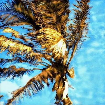 Blue Sky Palm Art Print by Paul Tokarski