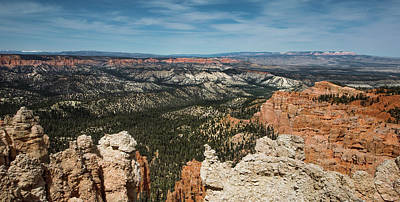 Photograph - Blue Sky Panorama Of Bryce Canyon by Mike Shaw