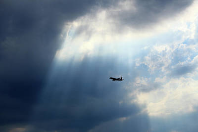 Photograph - An Airplane In Blue by Cora Wandel