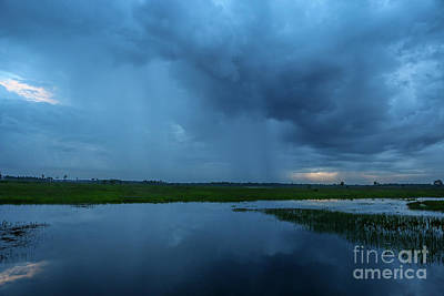 Photograph - Blue Sky Rain Storm by Tom Claud