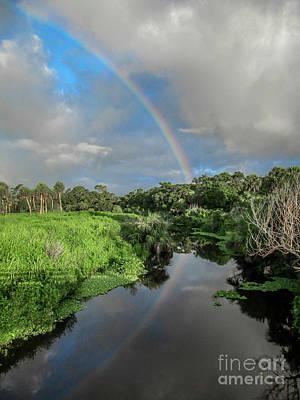 Photograph - Blue Sky Rainbow by Tom Claud