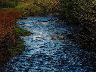 Photograph - Blue Sky Reflections In Irish River by James Truett