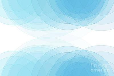 Blue Sky Semi Circle Background Horizontal Art Print