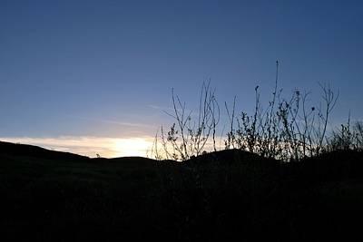 Photograph - Blue Sky Silhouette Landscape by Matt Harang