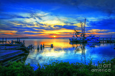 Photograph - Blue Sky Sunset 2 by Dave Bosse