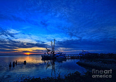 Photograph - Blue Sky Sunset by Dave Bosse