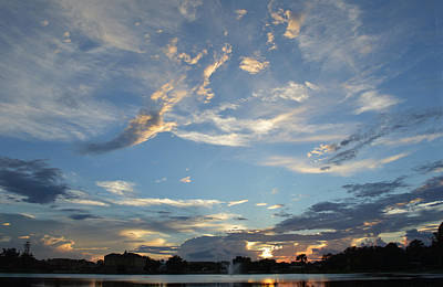 Photograph - Blue Sky Sunset by RD Erickson