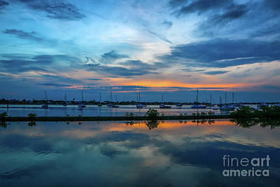 Blue Sky Sunset Art Print by Tom Claud