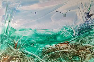 Painting - Blue Sky With Birds by Lorraine Bradford
