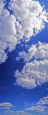 Photograph - Blue Sky With Clouds Vertical  by Tom Jelen